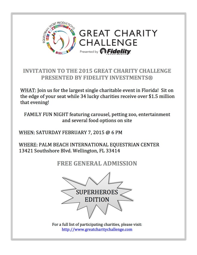 INVITATION TO THE 2015 GREAT CHARITY CHALLENGE